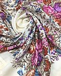 Сад души 1599-2, павлопосадский платок шерстяной с шерстяной бахромой, фото 6