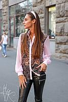 Блуза женская красивая со вставками сетки с узором Bk389
