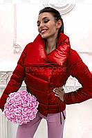 Красная куртка (ткань - плащевка Канада + синтепон + подкладка) Размеры S,М,L (розница и опт)