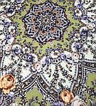 Серебряный ручей 1851-9, павлопосадский платок шерстяной с шелковой бахромой, фото 7