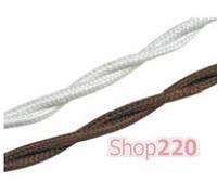 Ретро проводка 2х1,5, коричневый, Fontini