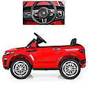 Детский электромобиль Джип M 3213 EBLR-7, Land Rover, Кожа, EVA резина, Амортизаторы, оранжевый, фото 3