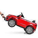 Детский электромобиль Джип M 3213 EBLR-7, Land Rover, Кожа, EVA резина, Амортизаторы, оранжевый, фото 4