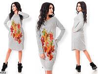 Женское демисезонное платье ангора-софт 42-46 размеров, 2 цвета