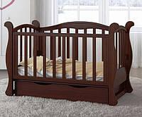 Детская кроватка Angelo Lux-6, цвет орех