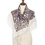 Оберег 1638-3, павлопосадский платок шерстяной  с шелковой бахромой, фото 2