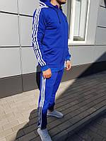 Спортивный костюм Adidas (Premium-class) синий с капюшоном