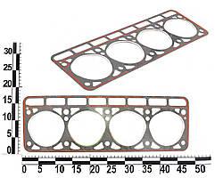 Прокладка головки блока, Газель ГАЗ 3302 ЗМЗ двигателя 402 (безасбестовая с красным герметиком). 402-1003020-02 (БЦМ)