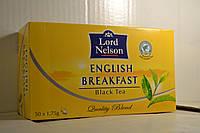 Чай Lord Nelson черный в пакетиках English Breakfast 50 пакетиков