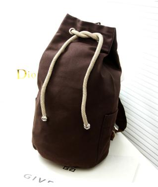 Рюкзак-мешок Muzhilan коричневый мешковина ( код: R450 )