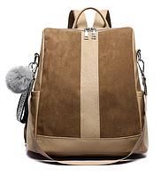 Рюкзак-сумка женский коричневый ( код: R618 ), фото 1