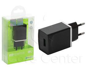 Сетевое зарядное устройство с поддержкой Quick Charge 3.0 Hoco C42A Vast power 1USB  Black3.0A