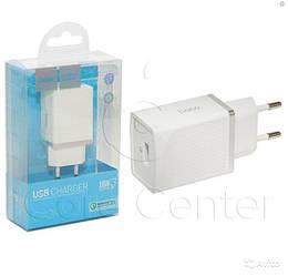 Мережевий зарядний пристрій з підтримкою Quick Charge 3.0 Hoco C42A Vast power 1USB 3.0 A white