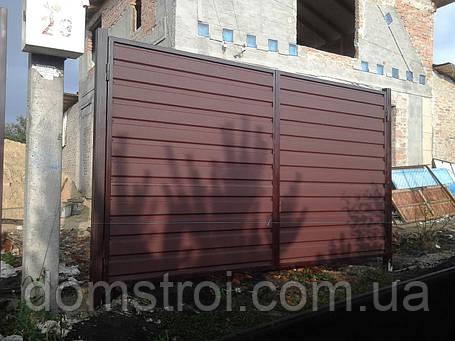 Ворота из матового профнастила, фото 2