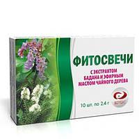 Фитосвечи з екстрактом бадану і ефірною олією чайного дерева №10