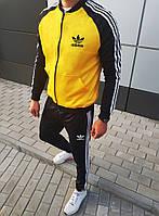 Спортивный костюм Adidas (Premium-class) c желтой олимпийкой