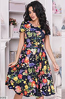 Красивое платье женское легкое летнее французский трикотаж 42-46 размеров, 3 цвета