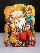 Упаковка праздничная новогодняя из картона Санта с детьми, до 400г, от 1 штуки