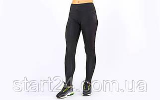 Лосины для фитнеса и йоги Domino CO-1628 (нейлон, лайкра, размер M-XL-44-50, черный)