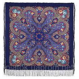 Прекрасное далёко 1678-14, павлопосадский платок шерстяной с шелковой бахромой