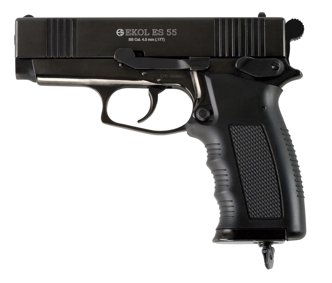 Пневматический пистолет EKOL ES55 Black CO2, 4.5 мм