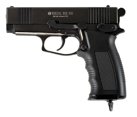 Пневматический пистолет EKOL ES55 Black CO2, 4.5 мм, фото 2