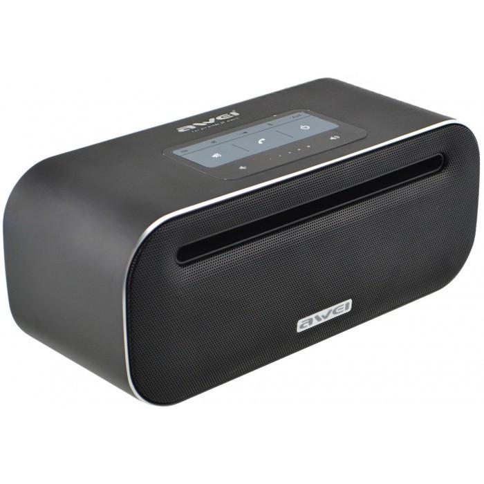 Портативная сенсорная Bluetooth колонка Awei Y600 Bluetooth, MP3, AUX, Mic Чёрная