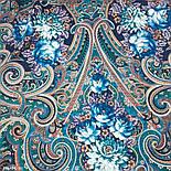 Исполнение желаний 1799-14, павлопосадский платок шерстяной (двуниточная шерсть) с шелковой вязаной бахромой, фото 3