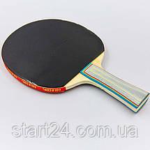 Ракетка для настольного тенниса 1 штука GOLD CUP 039A (древесина, резина), фото 3