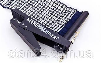 Сетка для настольного тенниса с клипсовым креплением MARSHAL MF-NET-LLL (металл, NY, PVC чехол), фото 3