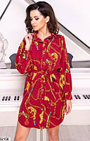 Платье-рубашка женское летнее легкое софт 42-48, 3 цвета