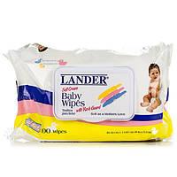 Серветки дитячі вологі ТМ Лендер / Lander 100шт