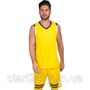 Форма баскетбольная мужская LD-8019-2 (PL, р-р L-5XL 160-190, желтый)
