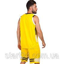 Форма баскетбольна чоловіча LD-8019-2 (PL, р-р L-5XL 160-190, жовтий), фото 2