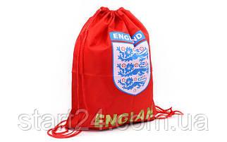 Рюкзак-мешок GA-1914-ENG-2 ENGLAND (PL, р-р 40х50см, красный)
