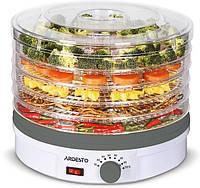 Сушка для продуктів Ardesto FDB-5320 - 245Вт/ 5 піддонів вис. 3см/ діаметр 32см/ рег. темп./ біла