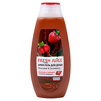 Fresh Juice крем-гель для душу Шоколад і Полуниця 400 мл
