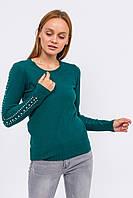 Джемпер с бусинами в виде лампас LUREX - зеленый цвет, S (есть размеры), фото 1