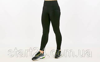 Лосины для фитнеса и йоги CO-15510-1 (лайкра, р-р M-L-44-48, черный)