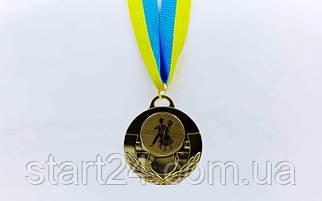 Медаль спортивная с лентой AIM  d-5см Танцы C-4846-0052 (металл, 25g, 1-золото, 2-серебро, 3-бронза)