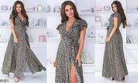 Платье женское длинное летнее легкое полированный штапель 42-54, 2 цвета