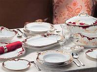 Сервиз столовый фарфоровый 6/26 Rococo 0040. Сервиз чайный 6/15 Rococo 0040