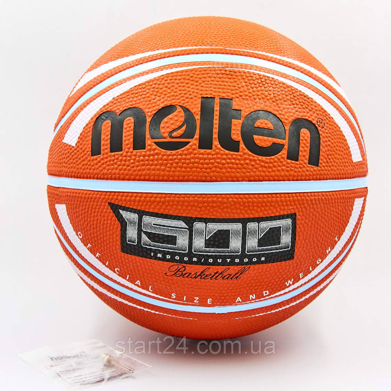 М'яч баскетбольний гумовий №7 MOLTEN B7RD-1500BRW (гума, бутил, оранжевий)