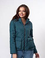 Молодежная женская куртка изумрудная (к-144)