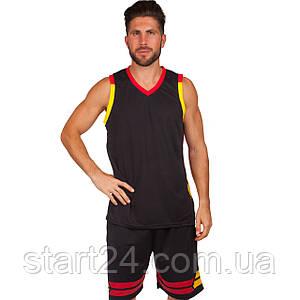 Форма баскетбольная мужская LD-8019-6 (PL, р-р L-5XL 160-190, черный)