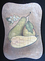 Картина деревянная (декупаж, hand made), 26х19х1,5см, 100\90 (цена за 1 шт.+10 грн)