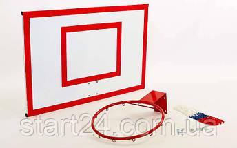 Щит баскетбольний з кільцем і сіткою посилений UR LA-6275 (щит-метал,р-р 180х105см, кільце d-45см), фото 3