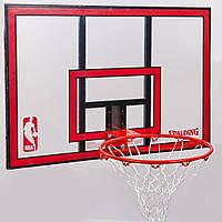 Щит баскетбольный SPALDING 79351CN NBA COMBO (поликарбонат, р-р 108x73см, кольцо d-49см)