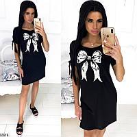 Платье-футболка женское летнее легкое свободное вискоза размер 42-46 универсальный, 4 цвета и 2 вида рисунка