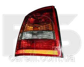 Фонарь задний для Opel Astra G хетчбек '98-09 левый (DEPO) красно-белый